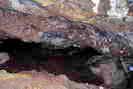Mines d'argent du Fournel - Chantier d'extraction médiéval dégagé par les fouilles, pendage 35°, h = 1,40 m